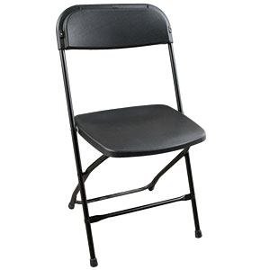 Black Plasstic Folding Chair