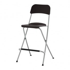 Black Folding Pub Chair