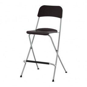 Black Folding Pub Chair