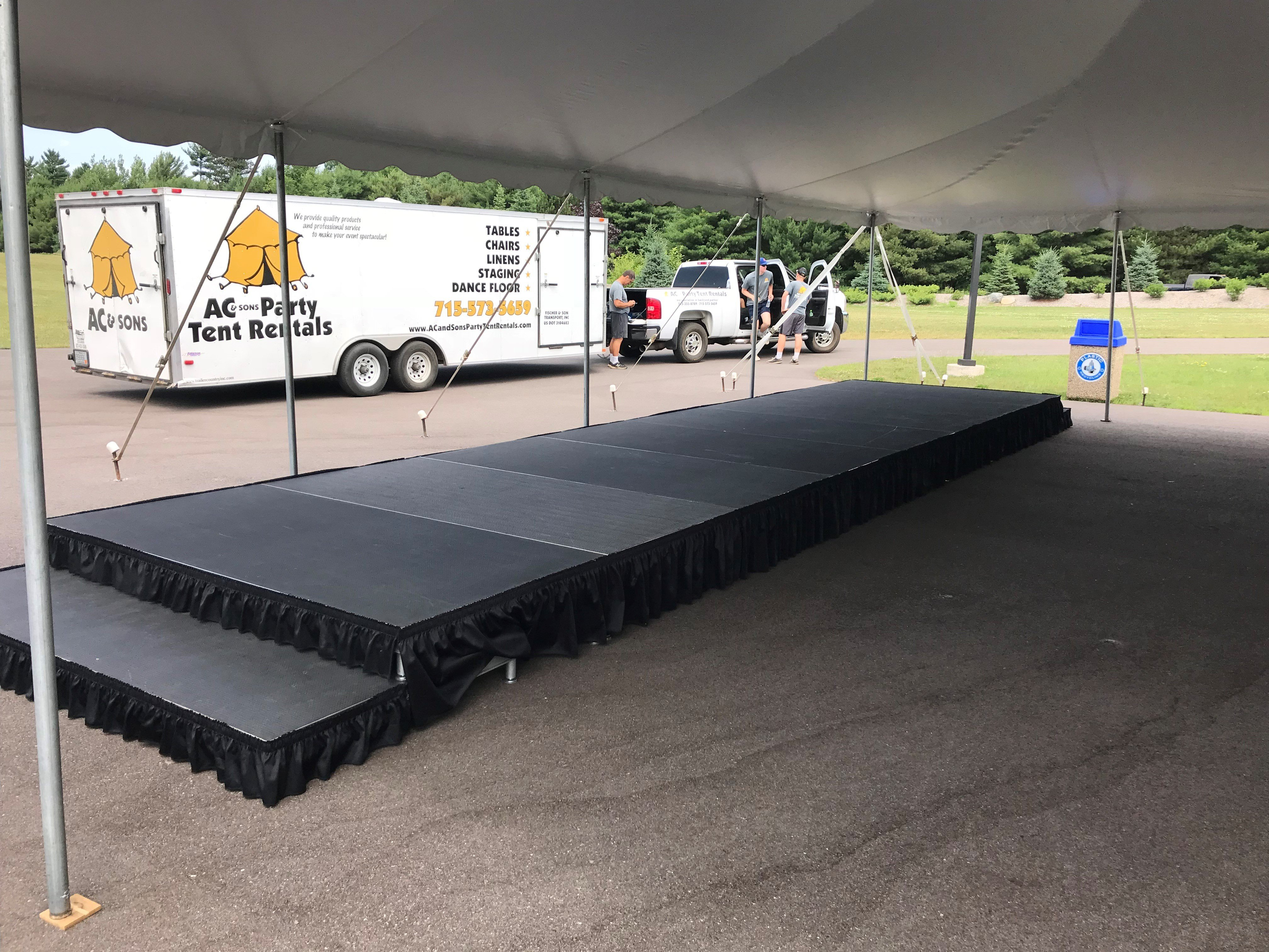 Risers Amp Stages Ac Amp Sons Party Tent Rentals